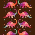 Geometrische Dinosaurier von QueenieLamb
