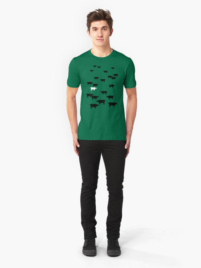 Alternate view of Cows Slim Fit T-Shirt