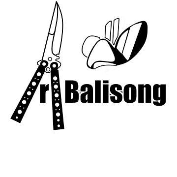 Balisong Tee small logo by alfalfa