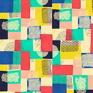 Blocky Pastel Pattern  by mightycloud