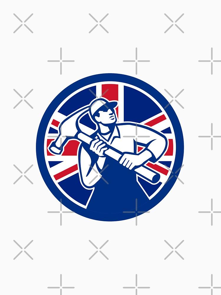 British Joiner Union Jack Flag Icon by patrimonio
