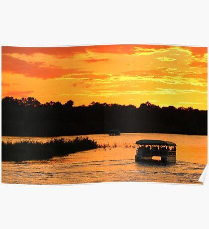Zambezi river sunset cruise Poster