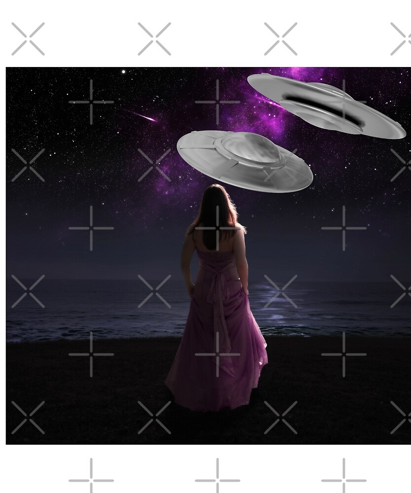 UFO Watching Lady Ocean by pyxiegurl