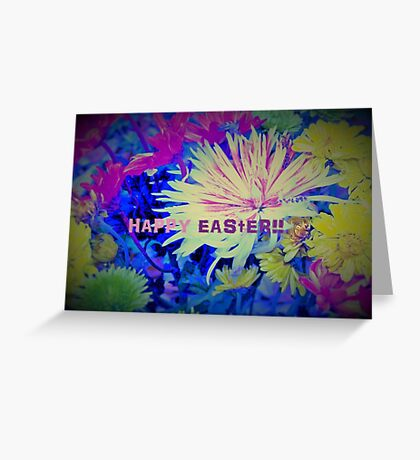 Floral Easter Card Greeting Card