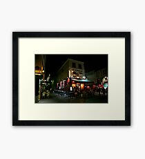 Night Streetscape Framed Print