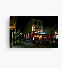 Night Streetscape Canvas Print