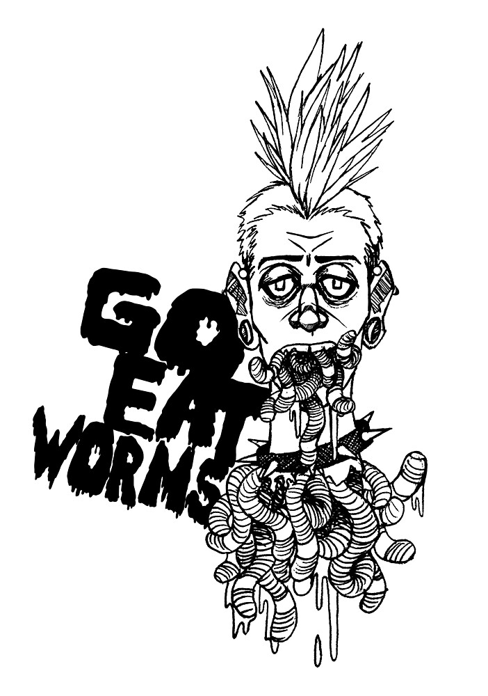 EatWorms Blk by Dawbs23