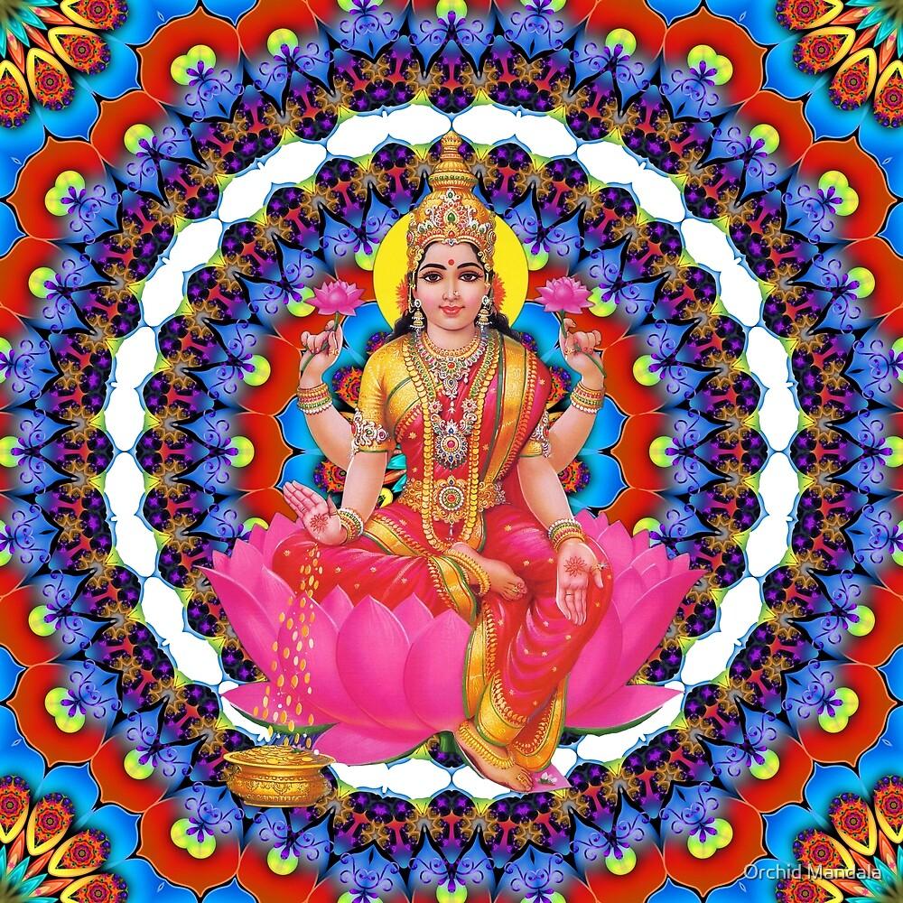 Mandala - Daily Focus 8-2-16 Lakshmi by Orchid Mandala