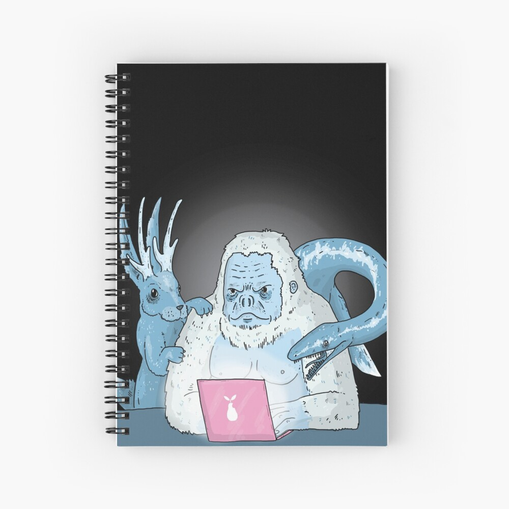 Logo Free Art Cryptid Addicted  Spiral Notebook