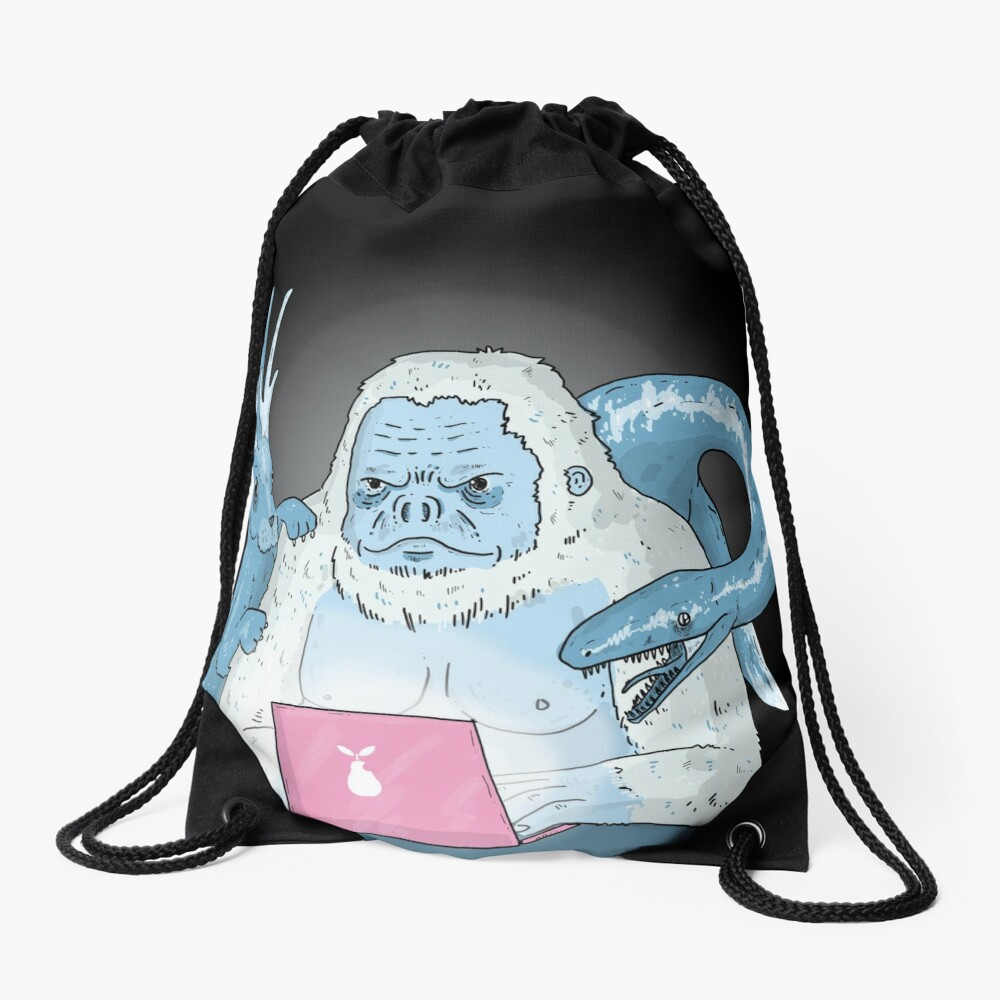 Logo Free Art Cryptid Addicted  Drawstring Bag