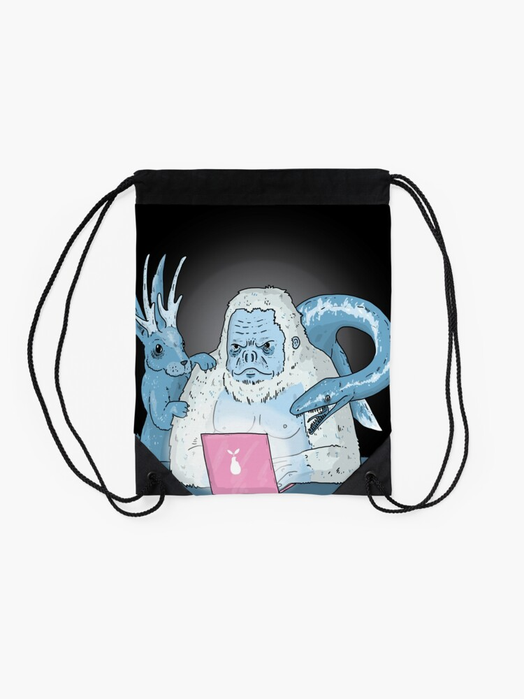 Alternate view of Logo Free Art Cryptid Addicted  Drawstring Bag