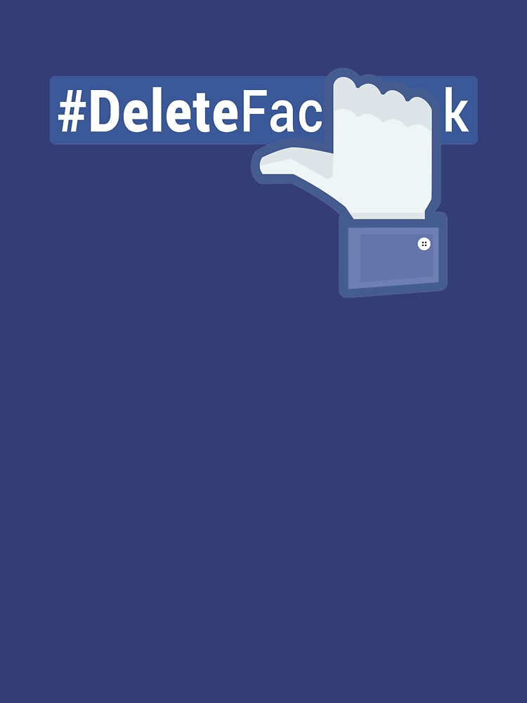 #DeleteFacebook Like Hand (dark) by kamal-creations