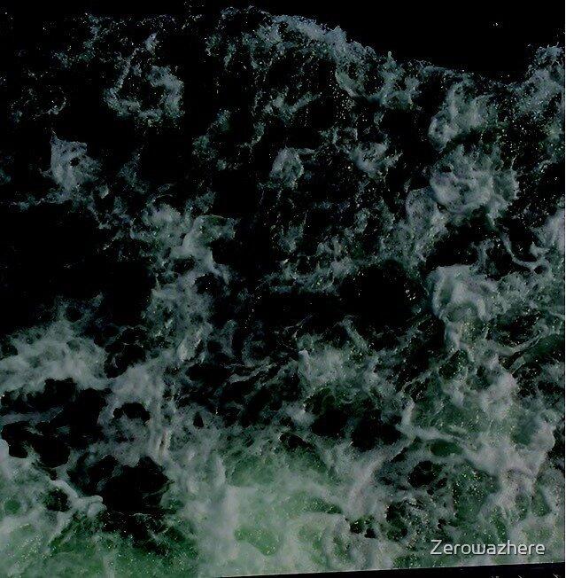 Green waves by Zerowazhere
