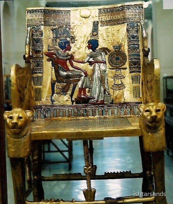 Quot Egyptian Museum King Tutankhamun Chair Quot By Ishtarsands