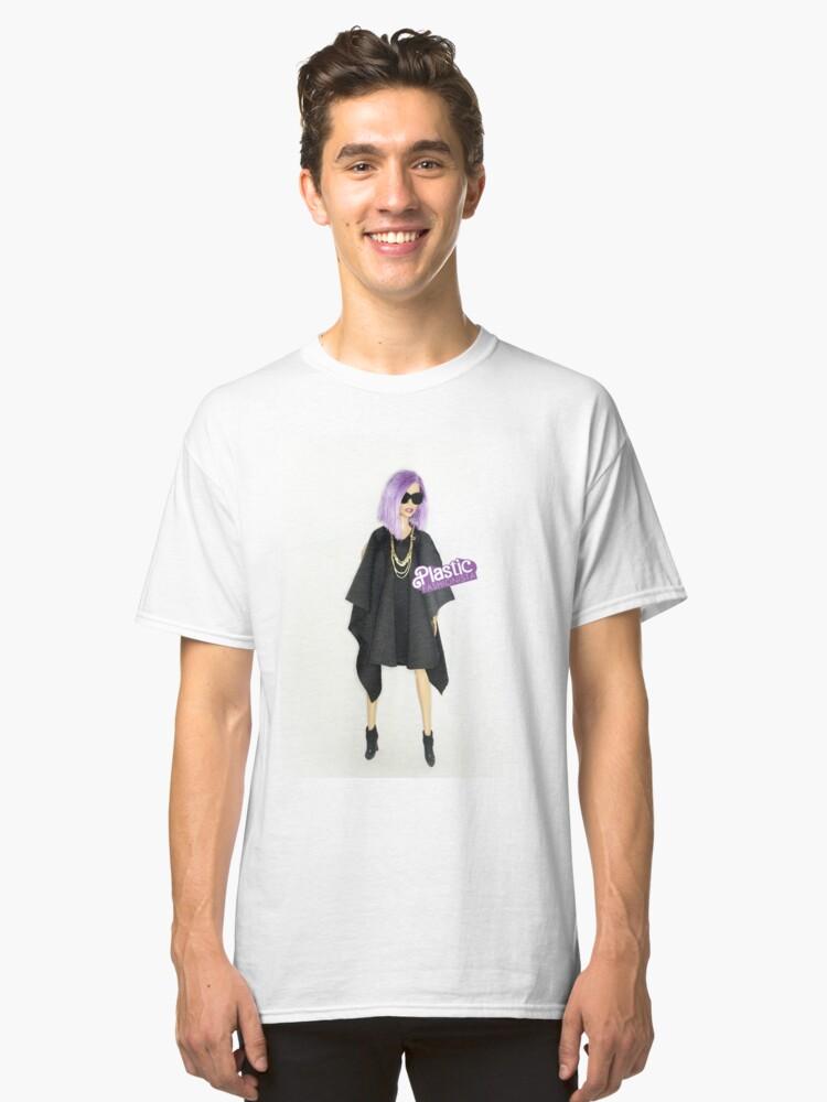 Mauve + neon cool Classic T-Shirt Front