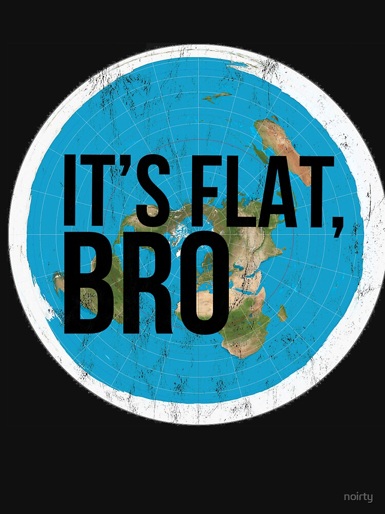 Flat Earth Tshirt Flat Bro Flat Earther Society Conspiracy by noirty