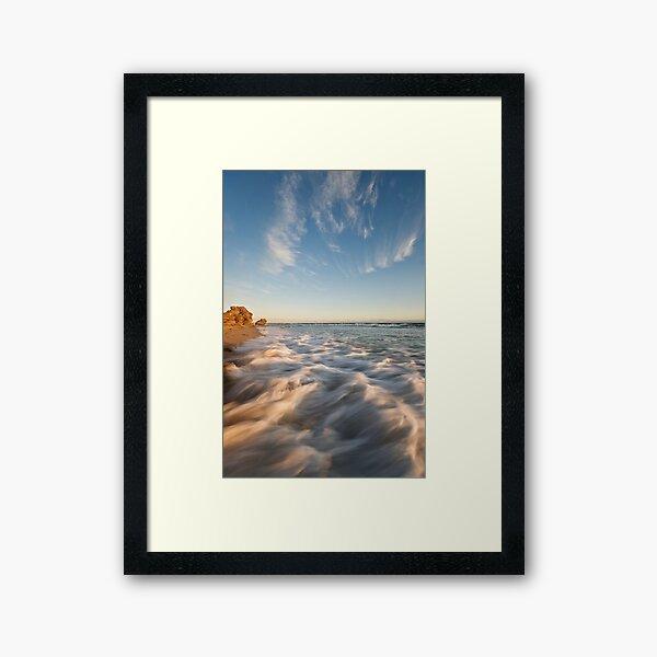 Ocean on Fire Framed Art Print