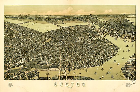Aerial View of Boston, Massachusetts (1899) by allhistory