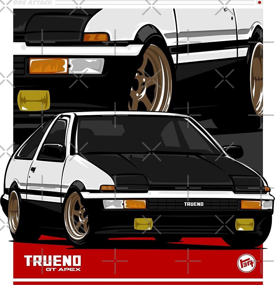 Trueno AE 86 by Ninetiescustoms