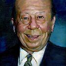 Burt Lahr Portrait by Josef Rubinstein