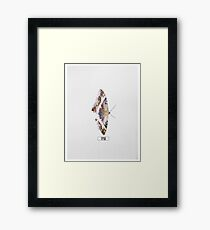 """Kendrick Lamar Graphic """"TO PIMP A BUTTERFLY"""" Framed Print"""