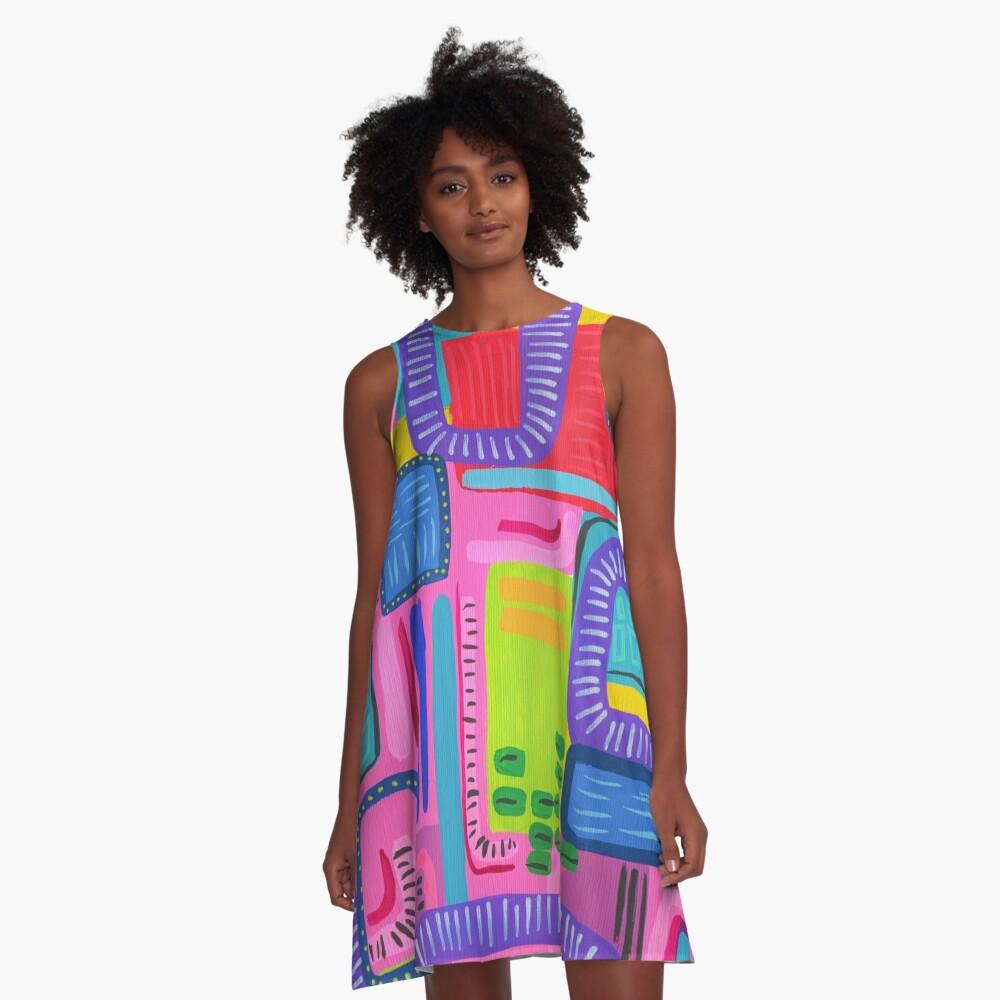 Emma Jones Art - Reckless A-Line Dress Front