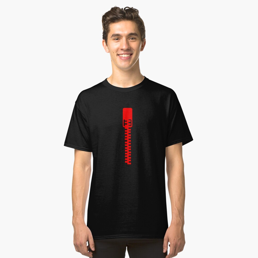 Clothing Zip Classic T-Shirt Front