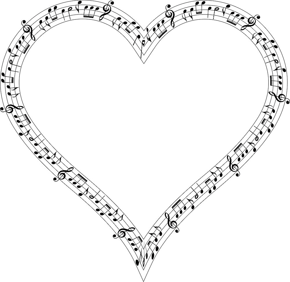 Musical Note Heart by suivezmoi