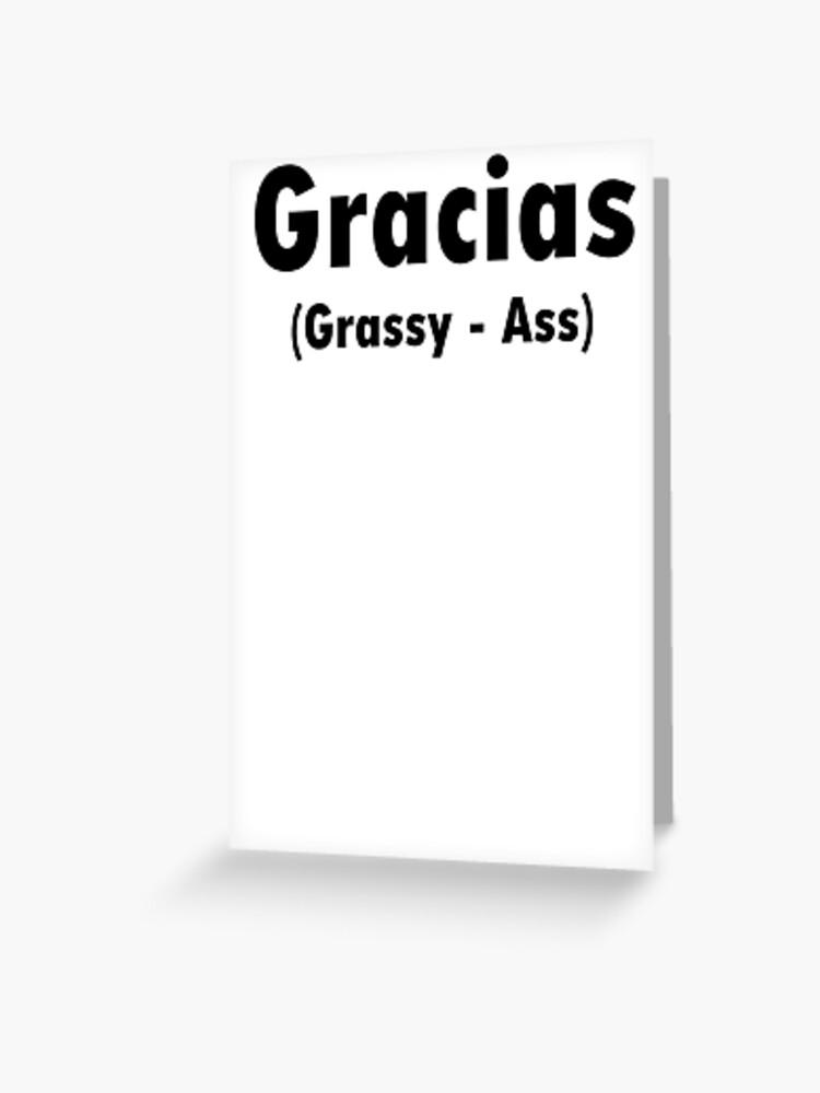 Gracias Pronounciation Greeting Card By Fablofreshcobar Redbubble Tim's pronunciation workshop shows you how english is really spoken. gracias pronounciation greeting card by fablofreshcobar redbubble