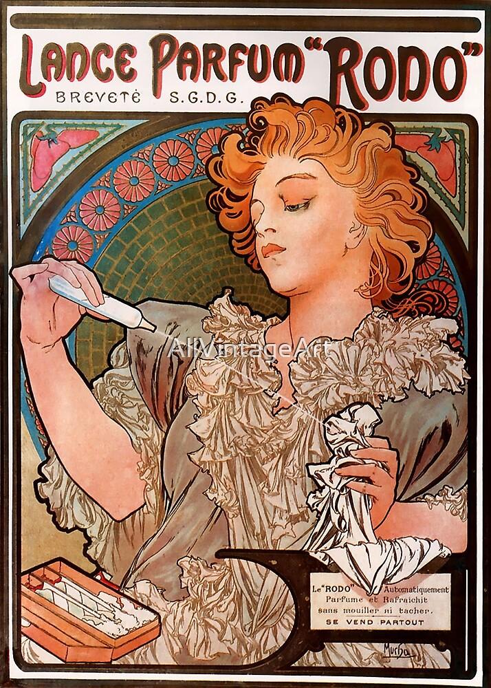 Vintage Alphonse Mucha - Parfum Rodo 1896 Art Nouveau by AllVintageArt