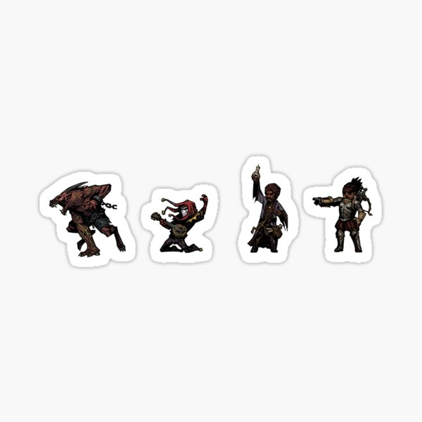 Pack d'autocollants Darkest Dungeon Heroes Sticker