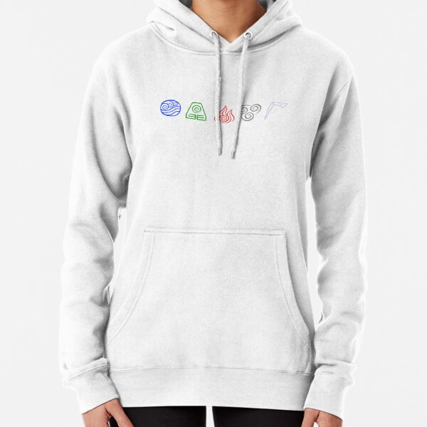 Avatar Element Icons Pullover Hoodie