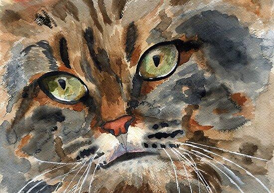 wild cat by Irina Reznikova