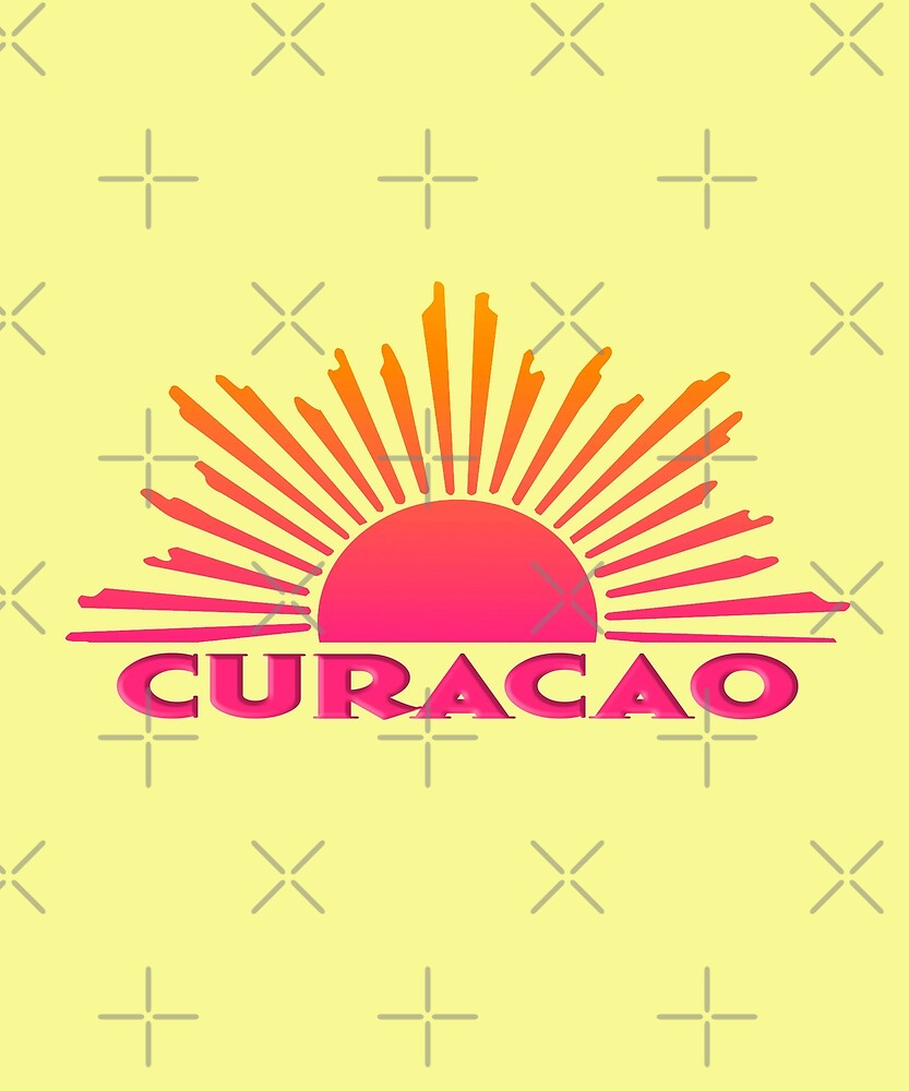 CURACAO Souvenir Travel Gift Bright Ombre Sun by lmaoshop