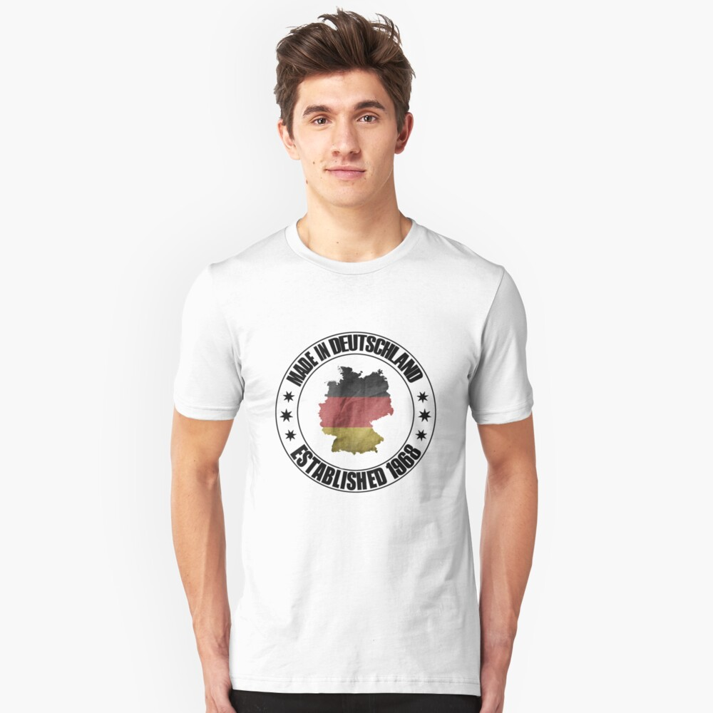 Birthday 1968 born in Germany beautiful world champion shirt as a gift Unisex T-Shirt Front