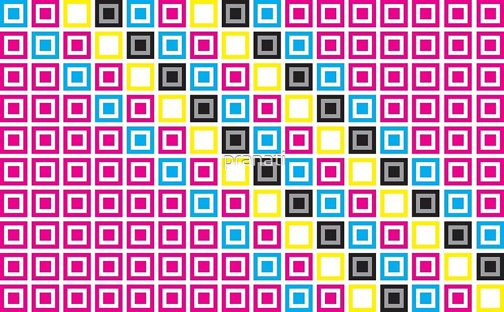 CMYK square pattern by pranati