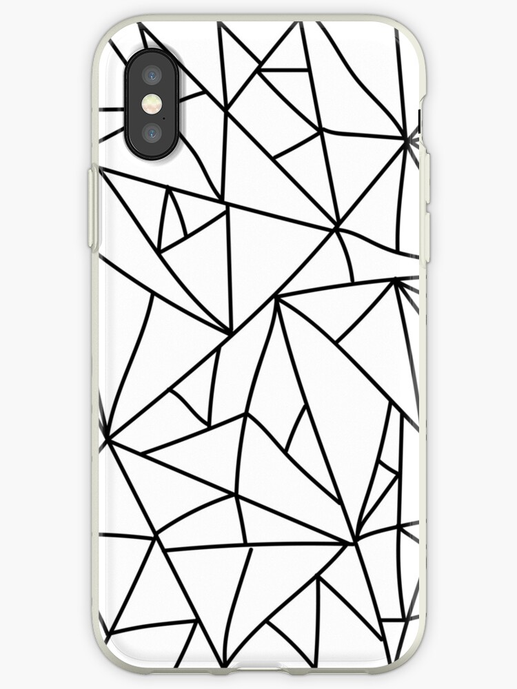Geometric Rustled Wrap Black and White by 24finelines