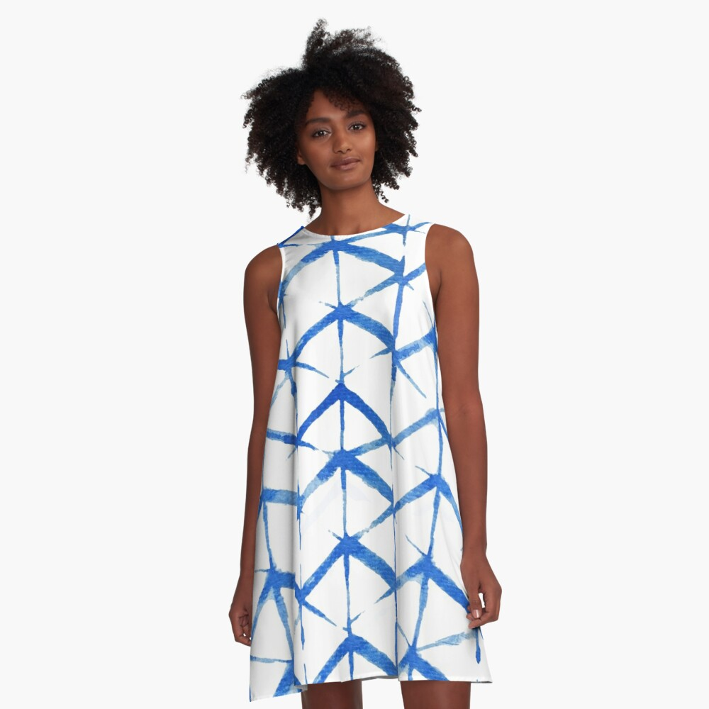 Japanese Beach Party A-Line Dress Front