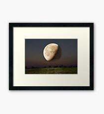 Unreal Moonrise Framed Print