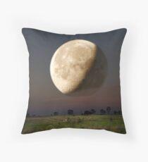 Unreal Moonrise Throw Pillow