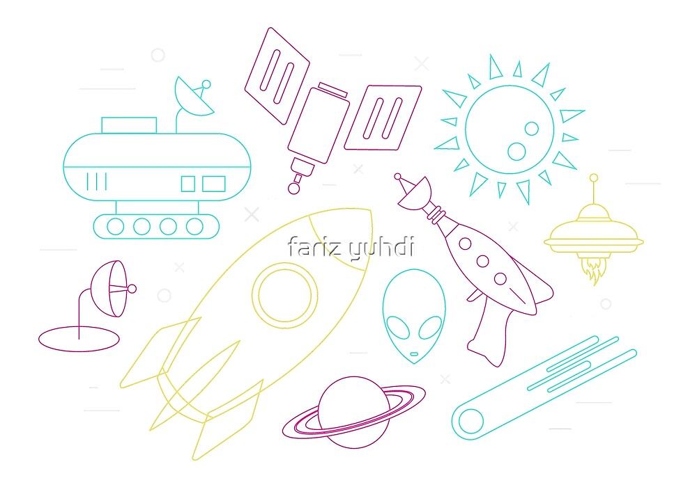 Funky Space Icons by fariz yuhdi