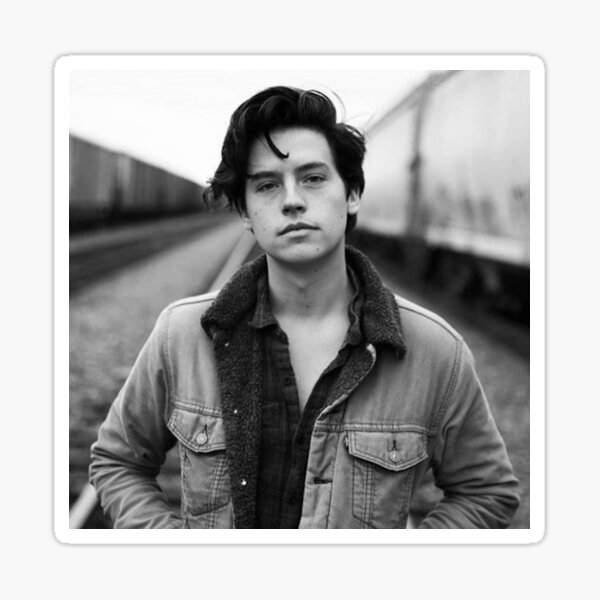 COLE SPROUSE BLACK AND WHITE Sticker
