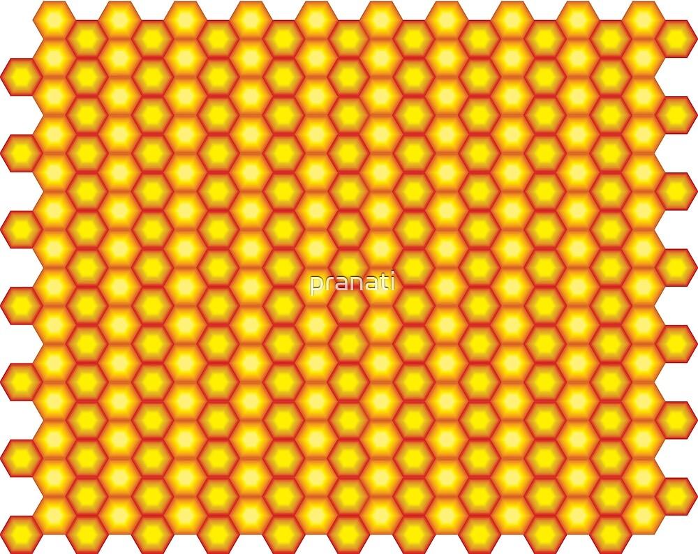 Hexagon seamless pattern by pranati