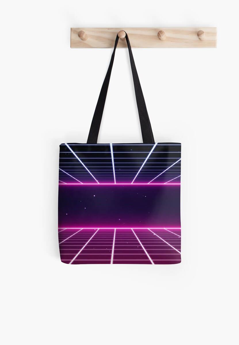 NOSTALGIA 80S NEON GRID  by colorcollective