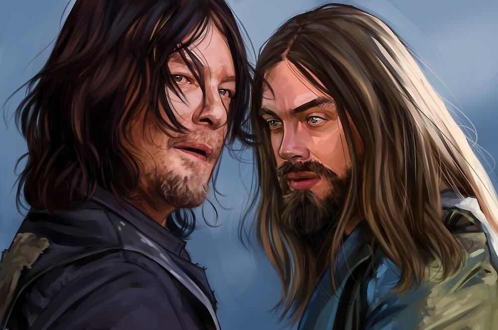 DESUS Daryl & Jesus - TWD by Han (youremyfanart)