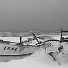 Boat Wrecks In Snow by Heath Carney