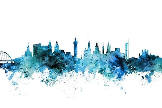 Glasgow Scotland Skyline by Michael Tompsett