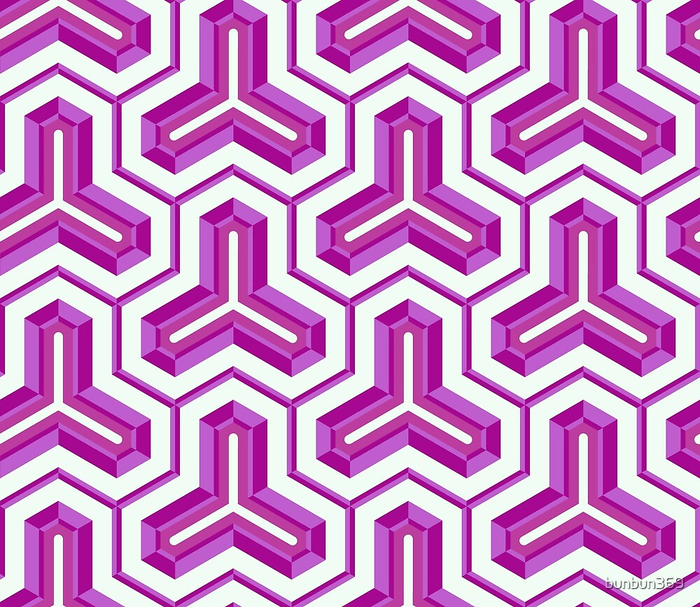 Tri-log Intersecting Pattern by bunbun369