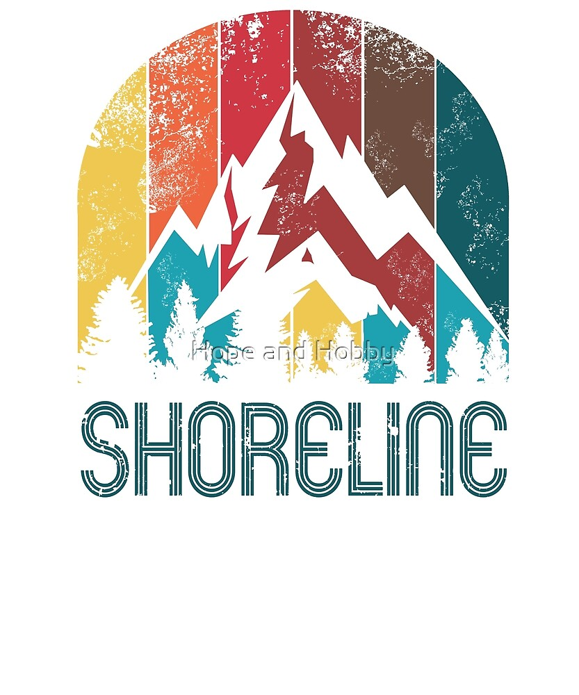 Retro City of Shoreline T Shirt for Men Women and Kids by Theodore Cory