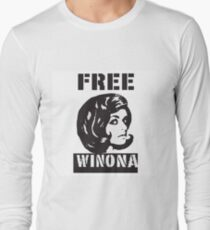FREE WINONA RYDER Long Sleeve T-Shirt